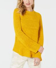 Image of Style & Co Mixed-Stitch Crew-Neck Sweater, Created for Macy's