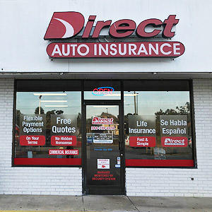 Front of Direct Auto store at 104 South Spring Garden Avenue, Deland