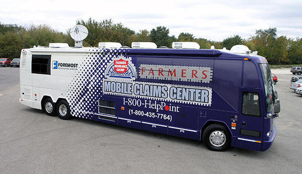 Our mobile claims centers will be there when disaster strikes