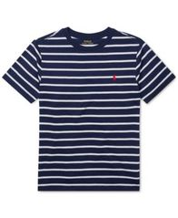 Image of Polo Ralph Lauren Big Boys Striped Jersey Crew-Neck T-Shirt