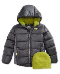 Image of Hawke & Co. Outfitter Branson Hooded Puffer Jacket with Hat, Little Boys (4-7)