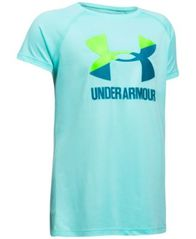 Image of Under Armour Solid Big Logo T-Shirt, Big Girls (7-16)