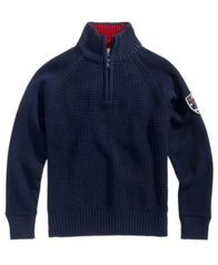 Image of Tommy Hilfiger Quarter-Zip Raglan Sweater, Big Boys