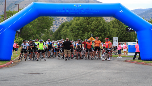 Over 1000 bikers and volunteers participated in the Gran Fondo.