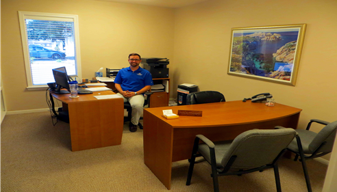Inside the office - Commercial Sales & Service