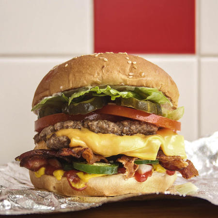 Five Guys Cheese Burger
