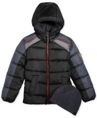 Image of Hawke & Co. Outfitter Harvey Hooded Puffer Jacket with Hat, Little Boys
