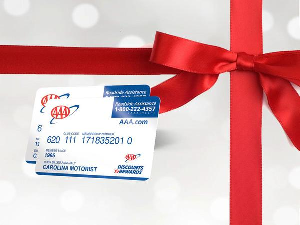 AAA Card on top of wrapping paper