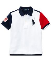 Image of Polo Ralph Lauren Big Boys Colorblocked Cotton Polo