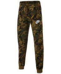 Image of Nike Big Boys Camo-Print Fleece Joggers