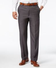 Image of Haggar Microfiber Performance Classic-Fit Dress Pants, Created for Macy's