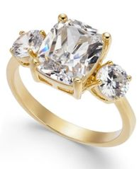 Image of Charter Club Gold-Tone Crystal Statement Ring, Created for Macy's