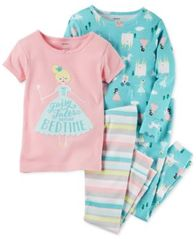 Image of Carter's 4-Pc. Fairy Tales Cotton Pajama Set, Toddler Girls (2T-5T)