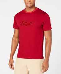 Image of Lacoste Men's Crocodile Flocked Graphic T-Shirt, Created for Macy's