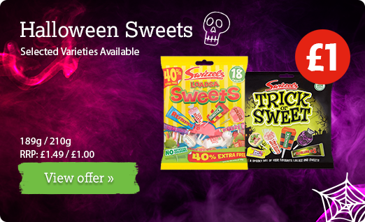 Halloween sweets available at local participating Nisa Stores