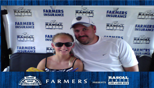 Madi and Papa at the Rascal Flatts concert 2013