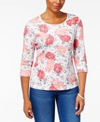 Image of Karen Scott Printed Top, Created for Macy's