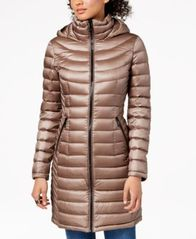 Image of Calvin Klein Hooded Packable Puffer Coat