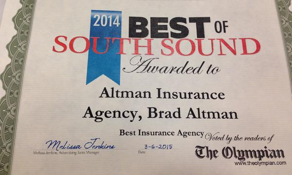 We won the Best of South Sound Award from the Olympian Newspaper in 2015.