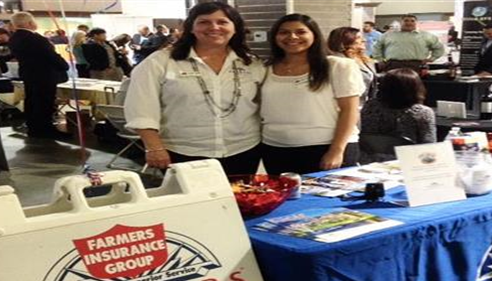 Our Agency Manager, Kathy Davis and CSR, Jenny Damian representing Farmers®!