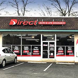 Front of Direct Auto store at 3415 Atlanta Hwy, Montgomery