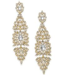 Image of I.N.C. Gold-Tone Crystal & Imitation Pearl Kite Drop Earrings, Created for Macy's