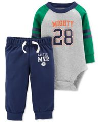Image of Carter's Baby Boys 2-Pc. Cotton Mighty 28 Bodysuit & Pants Set