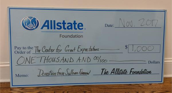 Stephen Sullivan - Allstate Foundation Helping Hands Grant for The Center for Great Expectations