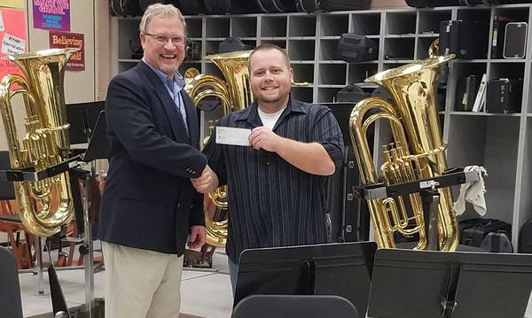 Donating to the music department at Southwest Middle School