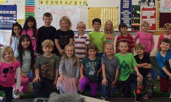 Sarah Beckwith's students were selected as the Westwoods  October Classroom of the Month