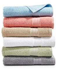 Image of Sunham Soft Spun Cotton Bath Towel, Sold Individually