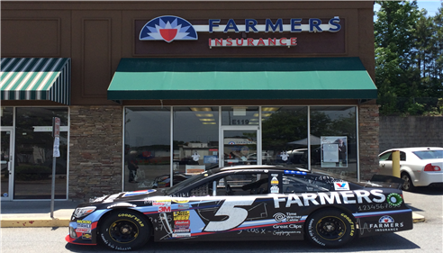 Kasey Kahne Car #5 at our store in Hiram.