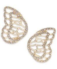 Image of Thalia Sodi Pavé Butterfly Wing Stud Earrings, Created for Macy's