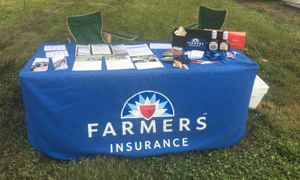 Farmers table at a County Fair
