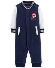 Image of Carter's Baby Boys Varsity Fleece Coverall