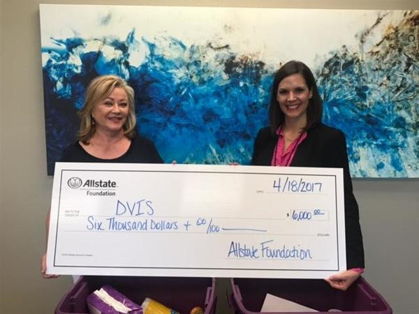 Kay Roseborough - Domestic Violence Intervention Services (DVIS) Receives Allstate Foundation Helping Hands Grant
