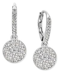 Image of Danori Silver-Tone Pavé Dome Drop Earrings, Created for Macy's