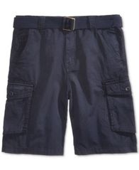 Image of Ring of Fire Belted Cotton Cargo Shorts, Big Boys, Created for Macy's