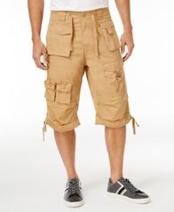 "Image of Sean John Men's Classic Flight Cargo 14"" Shorts, Created for Macy's"
