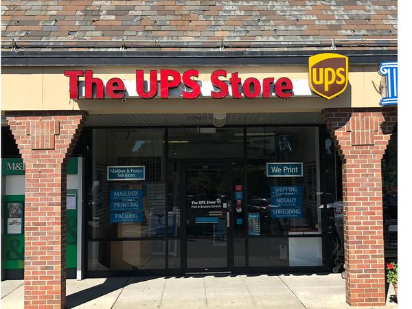 front of the ups store at 189 Berdan Ave