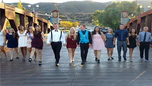 My daughter and friends - 2014 homecoming dance