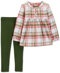 Image of Carter's Toddler Girls 2-Pc. Plaid Flannel Tunic & Leggings Set