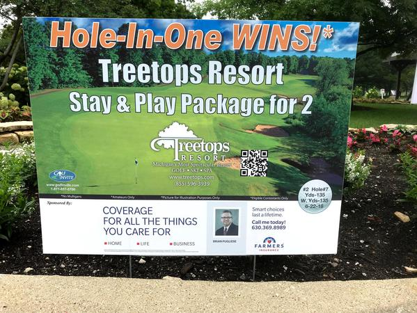 Third year sponsoring Hole-In-One
