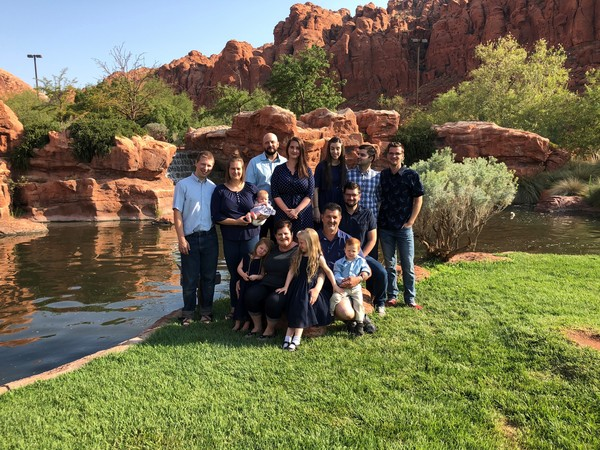 Wayne P. Elwood Family on a trip to Southern Utah