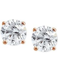 Image of Giani Bernini Cubic Zirconia Sterling Silver Stud Earrings, Created for Macy's