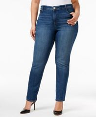 Image of Style & Co Plus Size Tummy-Control Slim-Leg Jeans, Created for Macy's