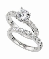 Image of Charter Club Ring Set, Cubic Zirconia Engagement (3 ct. t.w.)