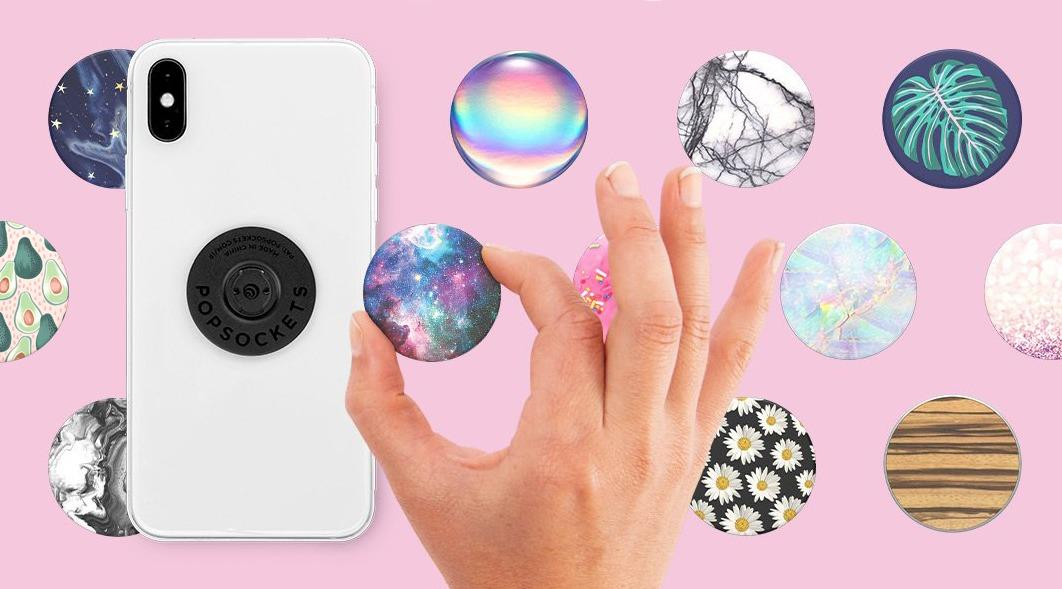 PopSockets being selected for mobile phone