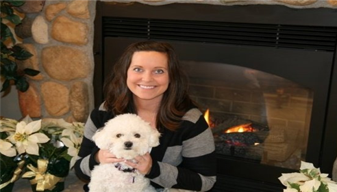 Just me and my favorite Bichon Lily!