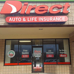 Front of Direct Auto store at 3190 Atlanta Highway, Athens